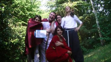 Jb, Doud, Mick, Corentin et Mélanie, l'équipe en 2012